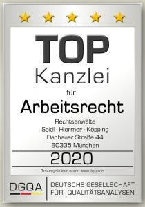 Top Anwaltskanzlei für Arbeitsrecht in München 2020